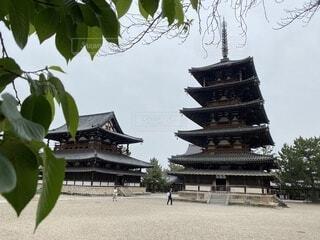 夏の法隆寺の写真・画像素材[4735613]