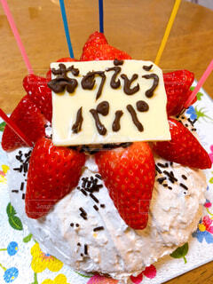 手作りバースデーケーキの写真・画像素材[4392302]