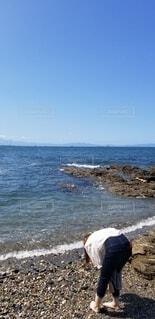 空と海と私の写真・画像素材[3721202]