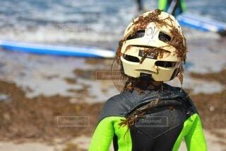 海藻まみれの写真・画像素材[3805086]
