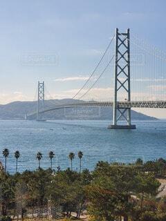 水の体に架かる橋の写真・画像素材[3720561]