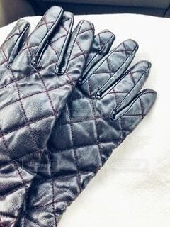 愛用の手袋の写真・画像素材[4045323]