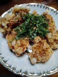 食べ物の皿のクローズアップの写真・画像素材[3789202]