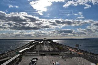 海ほたるから見た空の写真・画像素材[3822738]