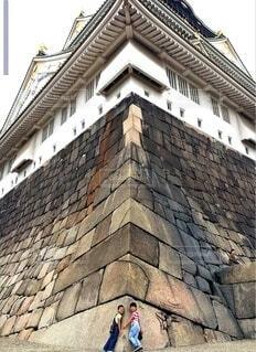 大阪城を足元から見上げるの写真・画像素材[3800772]