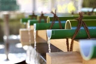 神社の手水舎の写真・画像素材[3751277]