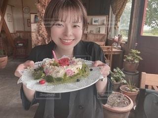 お誕生日ケーキの写真・画像素材[3778991]