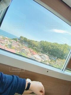 眺めの良い窓側よりの写真・画像素材[3803615]