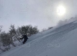 冬,雪,屋外,山,スキー,運動,斜面,パウダー,ウィンタースポーツ,バックカントリースキー