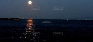 月の道の写真・画像素材[3747786]