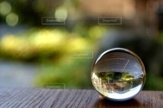 紅葉,庭,縁側,ガラス,庭園,ガラス玉,飾り,エモい,エモい写真
