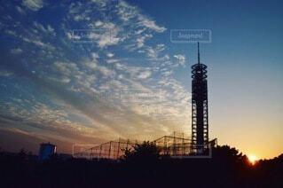 日没時の眺めの写真・画像素材[3751756]