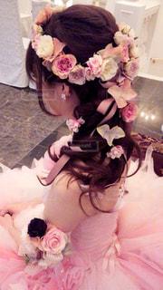 ピンクの花のグループの写真・画像素材[935683]