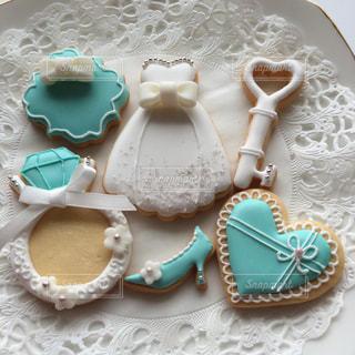 ドレス,リボン,クッキー,手作り,アイシングクッキー