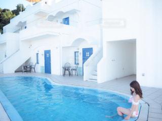 水のプールの女の子の写真・画像素材[1429111]