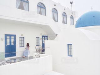大きな白い建物の写真・画像素材[1660634]