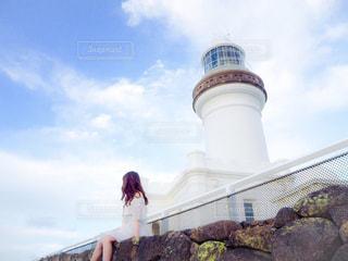 女性,白,旅行,灯台,オーストラリア,ホワイト