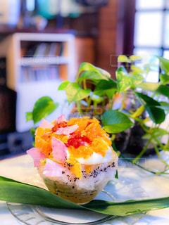 食べ物の皿のクローズアップの写真・画像素材[2297696]
