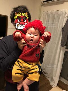鬼の親子の写真・画像素材[4123859]