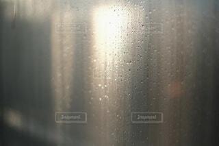 窓の結露と朝日の写真・画像素材[4069585]