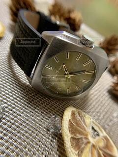 腕時計のクローズアップの写真・画像素材[3789350]