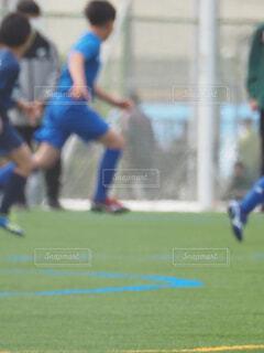 サッカー試合の写真・画像素材[4324168]
