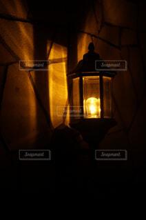 玄関のライトの写真・画像素材[4566595]