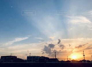 夕陽。の写真・画像素材[3784351]