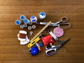 裁縫道具の写真・画像素材[3817490]