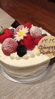 父のバースデイケーキの写真・画像素材[3791290]