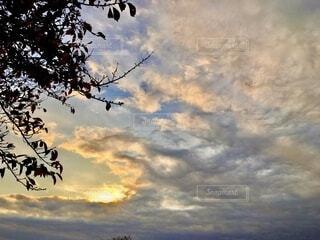 雲が綿菓子のようの写真・画像素材[3836303]