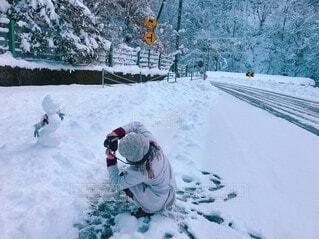 雪だるま撮影の写真・画像素材[3989589]