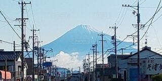 富士山の見える街の写真・画像素材[3822173]