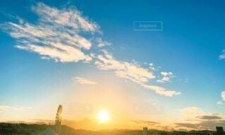 自然,風景,空,屋外,太陽,朝日,雲,夕暮れ,散歩,旅,正月,朝,お正月,日の出,新年,初日の出