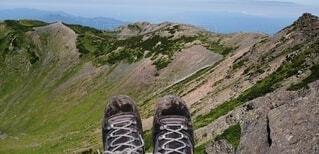 この靴と一緒に登頂の写真・画像素材[3818774]
