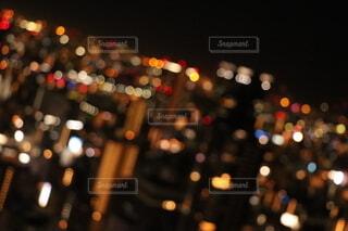 街明かりのクローズアップの写真・画像素材[4076333]