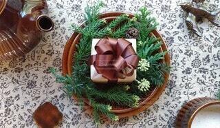 お茶の時間のプレゼントの写真・画像素材[3931747]