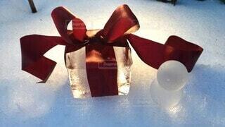 氷のプレゼントの写真・画像素材[4026585]