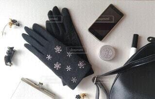 手袋と鞄の中身の写真・画像素材[4054972]