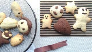 バレンタインのお返しに手作りクッキーの写真・画像素材[4248026]