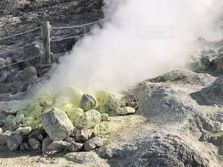 硫黄山の写真・画像素材[3827982]