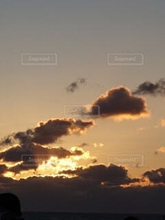 風景,海,朝日,雲,正月,お正月,日の出,新年,初日の出
