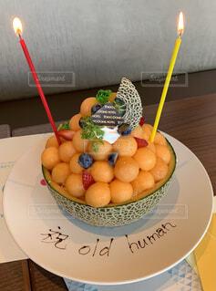 フレッシュ メロン ケーキの写真・画像素材[3834763]