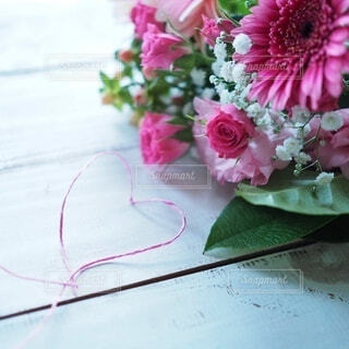 ピンク色のブーケの写真・画像素材[4169551]