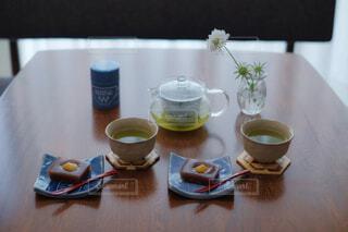 手作り栗羊羹でお茶の時間の写真・画像素材[4293686]