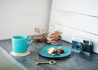 一人でゆっくりおうちカフェの写真・画像素材[4293709]