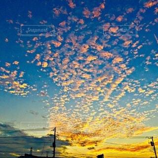 冬の空 夕方の写真・画像素材[3978347]