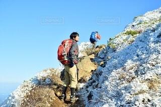 冬 茶臼岳 登山の写真・画像素材[3978467]