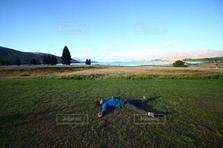 芝生に寝っ転がって、空を見上げてみませんか?の写真・画像素材[4590881]