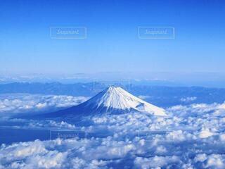 富士山を上からの写真・画像素材[3843712]